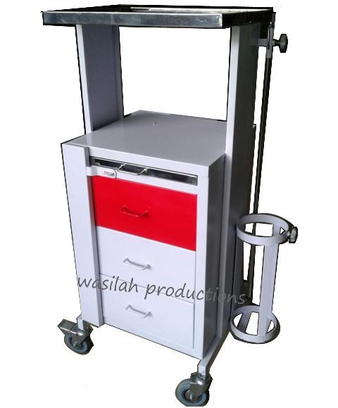 Troli Emergency bahan Besi dan stainless